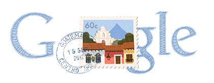 Google Logo: Guatemala's Independence Day - 2012